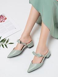 cheap -Women's Flats Flat Heel Faux Leather Almond Black Yellow
