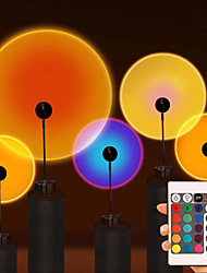 cheap -Sunset Rainbow Projection Lamp Tiktok LED Night Light RGB LED Sunset Remote Control Table Lamp Living Room Bedroom Hotel Background Wall Decorative Lighting