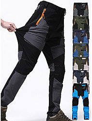 cheap -Men's Hiking Pants Trousers Patchwork Outdoor Waterproof Windproof Quick Dry Breathable Spandex Pants / Trousers Bottoms Green / Black Khaki green Army Green Blue Grey Camping / Hiking Hunting Fishing