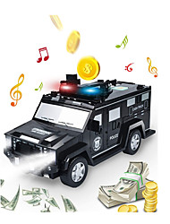 cheap -Kids Money Bank,Electronic Piggy Banks, Cool Police Car Password Fingerprint Piggy Bank with Light & Music,Perfect Toy Gifts for Boys Girls