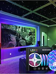 cheap -LED Strip Lights Music Sync RGB Smart LED Lights 15M(3x5M) Tiktok Lights 900LEDs SMD 2835 Color Changing with 24 keys Remote Bluetooth Controller for Home Bedroom TV Back Lights DIY Deco