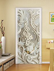 cheap -2pcs Self-adhesive Creative Door Stickers European Sculpture Beauty Living Room Diy Decoration Home Waterproof Wall Stickers