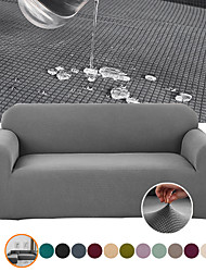 cheap -Pure Color Water Repellent Thickened Sofa Cover 1-Piece Super Stretch with Elastic Bottom and Anti Slip Foam Pet Hair Proof Sofa Slipcover Washable Furniture Protector