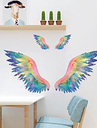 cheap -Wall Sticker Rainbow Dream Wings Feather Children's Room Home Bathroom Wall Background Decoration Can Be Removed Stickers