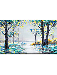 cheap -Mintura&reg Large Size Hand Painted Trees Landscape Oil Painting On Canvas Modern Abstract Art Wall Picture For Home Decoration (Rolled Canvas without Frame)