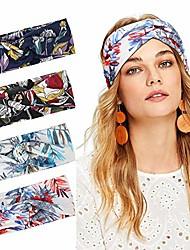cheap -boho headbands for women, boho floral top knot headbands girls headwrap adult twist turban headbands for yoga or daily wear_style 2