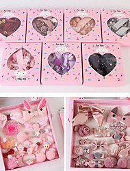 cheap -Kids Baby Girls' 18-Piece Children's Hair Accessories And Hairpin Gift Box Set Baby Does Not Hurt Hairpins And Headdresses For Girls