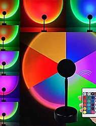 cheap -Sunset Lamp Tik Tok RGB Sunset Projection Lamp 180 Degree Rotation 16 Colors Romantic Modern Floor Stand Projection Atmosphere with Remote Control for Living Room Bedroom Decor