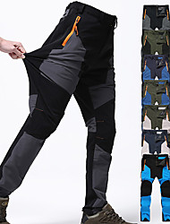 cheap -Men's Hiking Pants Trousers Patchwork Summer Outdoor Waterproof Windproof Quick Dry Breathable Spandex Pants / Trousers Bottoms Green / Black Khaki green Army Green Blue Grey Camping / Hiking Hunting