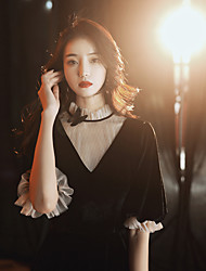 cheap -black can usually wear dress skirt, usually can wear banquet temperament evening dress skirt 18-year-old adult girl