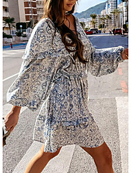 cheap -2021 amazon ebay independent station light cooked floral dress