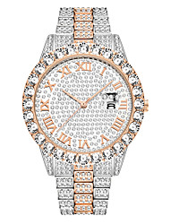 cheap -missfox fashion waterproof hip hop full diamond men's watch bracelet
