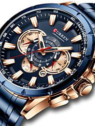 cheap -curren/karen 8363 men's business steel band watch quartz calendar six-hand multi-function luminous men's watch