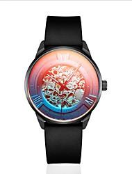 cheap -DOM Men's Mechanical Watch Analog Automatic self-winding Stylish Altimeter Noctilucent / Rubber / Titanium Alloy