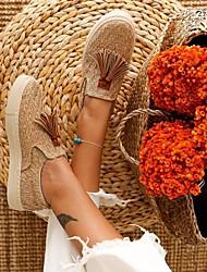 cheap -Women's Flats Flat Heel Round Toe Rubber Khaki