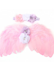 cheap -1pcs Kids / Toddler Girls'Baby Angel Wings Set Children's Photo Props Feather Wing Headband Feather Rhinestone Set