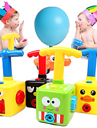 cheap -Power Balloon Launch Tower Toy Puzzle Fun Education Inertia Air Power Balloon Car Science Experimen Toy for Children Gift