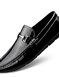 cheap -Men's Loafers & Slip-Ons Leather Shoes Tassel Loafers Dress Loafers Business Casual Classic Daily Party & Evening Nappa Leather Cowhide Non-slipping Wear Proof Booties / Ankle Boots White Black