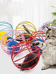 cheap -Interactive Toy Dog Cat 3pcs Round Pet Friendly Plush Gift Pet Toy Pet Play