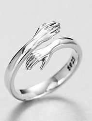 cheap -Band Ring Silver Alloy Stylish Simple 1pc Adjustable / Women's / Open Cuff Ring