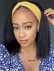 cheap -headband wig african fashion long straight hair yaki ice silk hairband wig chemical fiber headgear