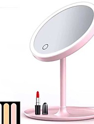 cheap -Led Makeup Mirror With Lamp Folding Portable Dormitory Female Luminous  Fill Light Beauty Makeup Vanity Mirror