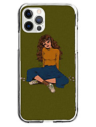 cheap -Painted Beauties Case For Apple iPhone 12 11 SE2020 Unique Design Protective Case Shockproof Cover TPU Clear Case for iPhone 12 Pro Max XR XS Max iPhone 8 7