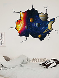 cheap -3D Broken Wall New Wall Paste Star Star Universe Living Room Bedroom Corridor Decoration Can Be Removed Stickers