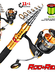 cheap -Fishing Rod and Reel Combo Telescopic Rod 150/180/210/240/270 cm Carbon Fiber Portable Lightweight Freshwater and Saltwater Sea Fishing Lure Fishing