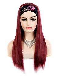 cheap -european and american wig headgear hair band wig headgear ladies headscarf hair band long straight hair wig synthetic fiber headgear multicolor