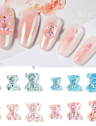 cheap -8 Packs/set Nail Decoration Set Bear Silicone Jelly Carved Three-dimensional Bear Product Colorful Marshmallow Bear Nail Jewelry Nail Art