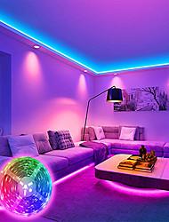 cheap -LED Strip Lights APP Control 2x10M 1x10M Light Sets RGB Linkable Tiktok Lights Smart Lights 180 360 LEDs SMD5050 Set Mounting Bracket RGB Christmas New Year's Room Decoration