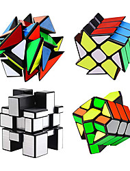 cheap -4-Pack QiYi Cube Set - Included 3x3 Fluctuation Angle Puzzle Cube - 2x3 Wheel Puzzle Cube - 3x3 Mirror Puzzle Cube 6 Color - 3x3 Square King Puzzle Cube