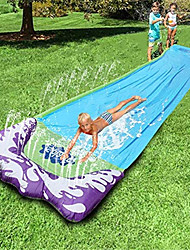 cheap -Giant Lawn Water Slide Inflatable 16ft Single Silp Slide Play Center Slide Water Spraying and Crash Pad For Kids Children Summer Backyard Swimming Pool Games Outdoor Toys with Bumper