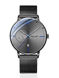 cheap -DOM Men's Mechanical Watch Analog Automatic self-winding Stylish Calendar / date / day Noctilucent / One Year / Titanium Alloy