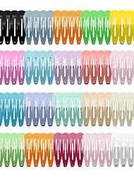cheap -european and american cross-border children's color drop-shaped 18-color 80pcs5cm paint hairpin side clip bangs clip set wholesale
