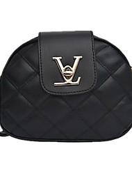 cheap -Women's Bags PU Leather Crossbody Bag Zipper Daily Handbags MessengerBag Black