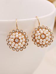 cheap -Women's Drop Earrings Stylish Sweet Imitation Pearl Earrings Jewelry Gold For Date Festival 1 Pair