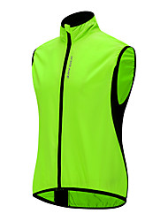 cheap -WOSAWE Men's Sleeveless Cycling Vest Green Patchwork Bike Windproof Breathable Sports Patchwork Clothing Apparel