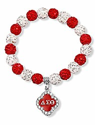 cheap -g-ahora delta sigma theta sorority bracelet i love dst jewelry greek sorority gift delta sigma theta sorority jewelry (bead bracelet)