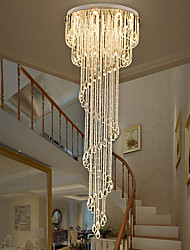 cheap -Modern Crystal Chandelier LED Ceiling Light 200cm Light Fixture For Staircase Stair Lights Luxury Hotel Villa Vanity Bedroom Hanging Lamp Ceiling Pendant Light 9 Heads 110-120V 220-240V