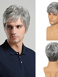 cheap -Young Men Synthetic Wig Short Curly Layered Haircut Brown Costume Wig Free Shipping 4 Colors Available
