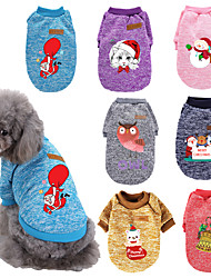 cheap -Dog Cat Costume Christmas Costume Dog clothes Cartoon Owl Merry Christmas Santa Claus Cosplay Funny Christmas Sports Winter Dog Clothes Puppy Clothes Dog Outfits Warm 1 Purple Red Costume for Girl