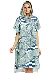 cheap -Unisex Quick Drying Cape Hooded Bath Robe Microfiber Swimming Diving Wearable Beach Bath Towel -Wizard of Oz