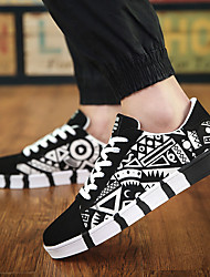 cheap -Men's Sneakers Crib Shoes Animal Print Printed Shoes Sporty Casual Classic Athletic Daily Walking Shoes Canvas Breathable Non-slipping Shock Absorbing Booties / Ankle Boots White Black Blue Color