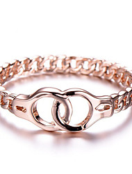 cheap -women's handcuffs simple ring platinum-plated female jewelry