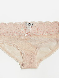 cheap -Women's Lace Brief Low Waist Black Blushing Pink Gray M L