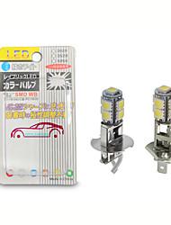 cheap -OTOLAMPARA 2pcs H1 H3 LED Bulb 5050 9SMD White 6000K For Car Auto Fog DRL Driving Light Or Flashlight Torches Head Lamp PK22S