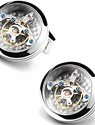 cheap -tti-techs cool mechanical cufflinks, men's watch movement cuff links, hand crafted steampunk shirt studs button for wedding groomsmen, gift for christmas/father's day/birthday/new year (silver)