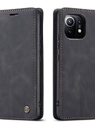 cheap -CaseMe Flip Case For Xiaomi Mi 11 10T Pro 10 Lite Note 10 Soft Slim Folio Flip PU Leather Wallet Case with 2 Cards Slot For Redmi Note 9 Pro K20 K30 Pro CC9 Pro